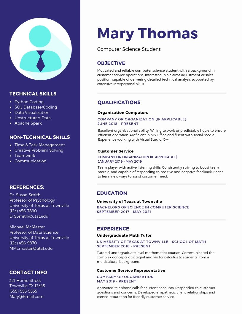 College Student Resume Examples and Templates | MyPath