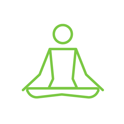 icon - person seated in the lotus position